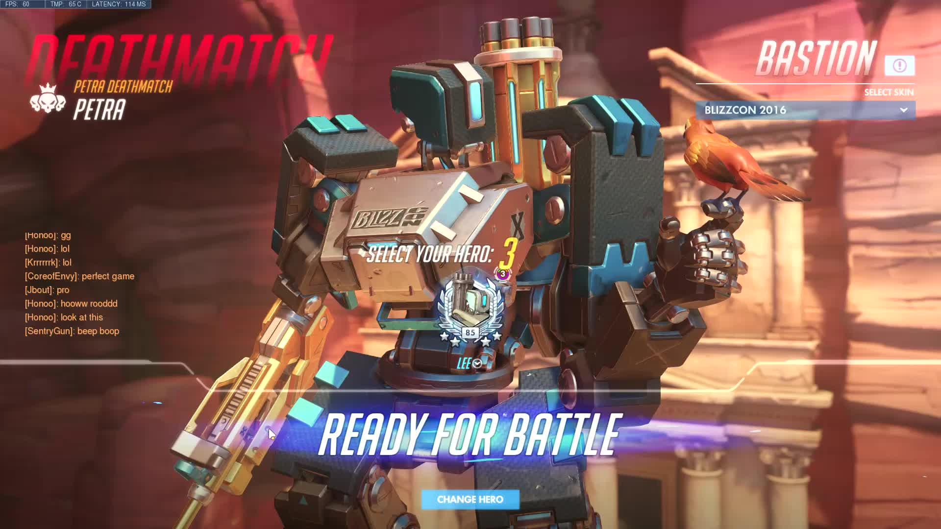 Overwatch, highlight, 2 Blizzcon Bastion GIFs