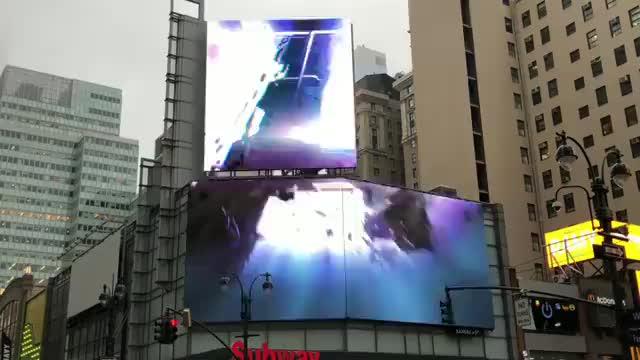 AvengersEndgame:, Marvel And DC Fandom, #AvengersEndgame: Digital Billboards in NYC. GIFs