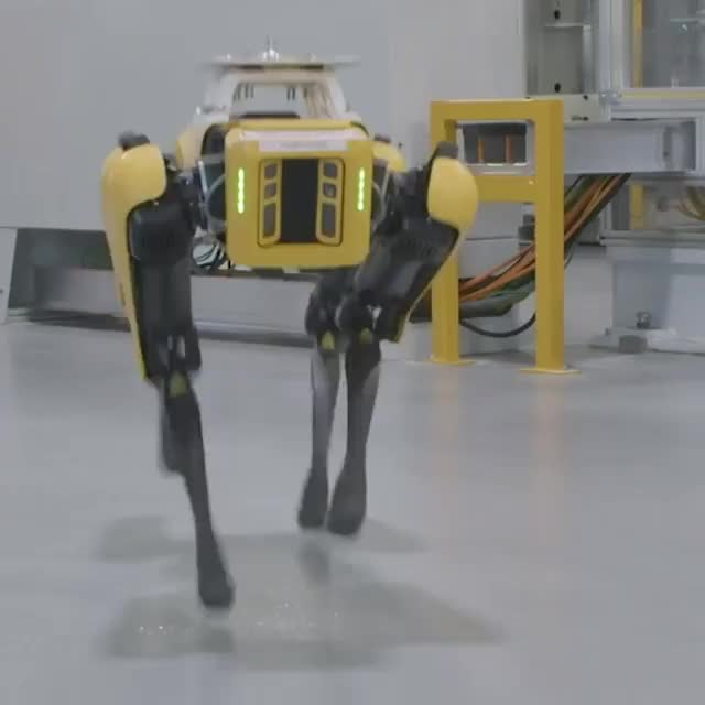 Watch and share Meet Fluffy, The New Robot Dog Mapping A Ford Factory In Michigan. GIFs on Gfycat