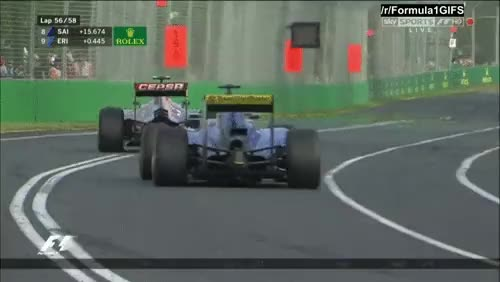 Watch and share ParchedAcclaimedAfricanwilddog ParchedAcclaimedAfricanwilddog ParchedAcclaimedAfricanwilddog,pass That Dutch Ericsson Passes Sainz On Lap 56 Of 58 - Australia 2016 (reddit) GIFs by cubejam on Gfycat