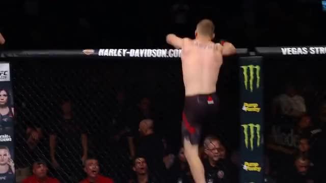 Watch Justin Gaethje KO's James Vick   HIGHLIGHT   UFC Fight Night GIF on Gfycat. Discover more KO, Saturday, fox, fs1, gaethje, highlight, james, justin, knockout, lincoln, mma, nebraska, ufc, vick GIFs on Gfycat