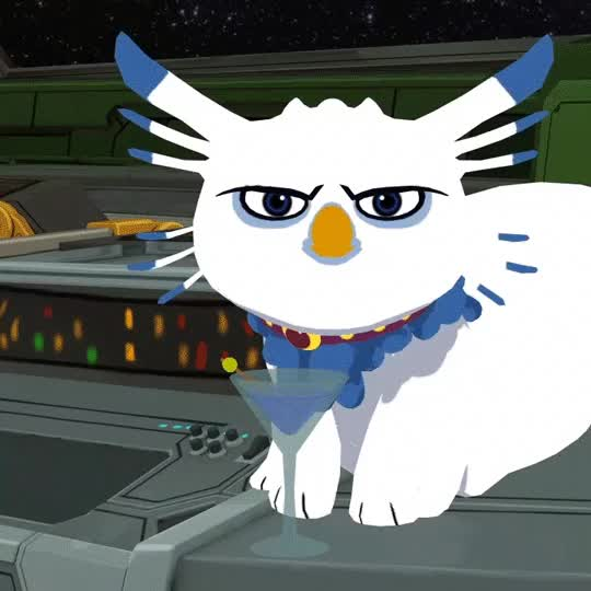 Watch Meowl doesn't appreciate your martini habit. GIF by Ship Out of Luck (@shipoutofluck) on Gfycat. Discover more Complex Games, Meowl, Ship Out of Luck, cat, complexgames, cute, deal with it, funny, game, gamedev, indiedev, indiegame, martini, owl, shipoutofluck, space, spacegame GIFs on Gfycat