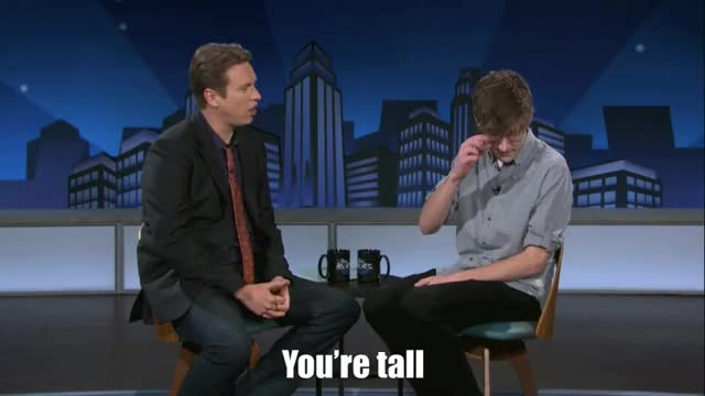 Watch and share You're Tall GIFs and Bo Burnham GIFs by Reactions on Gfycat