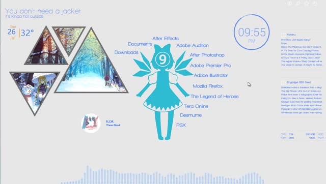Watch and share Rainmeter GIFs and Cirno GIFs on Gfycat