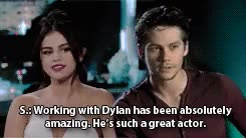 Watch and share Dylen O'brien Gif GIFs and Selena Gomez Gif GIFs on Gfycat