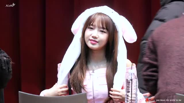 Watch yoojung rabbit GIF by @kibbeh on Gfycat. Discover more ALoHa, IOI, Meki, Weki, 아이오아이, 여의도 팬사인회, 위키미키, 직캠, 최유정, 하이라이트 GIFs on Gfycat
