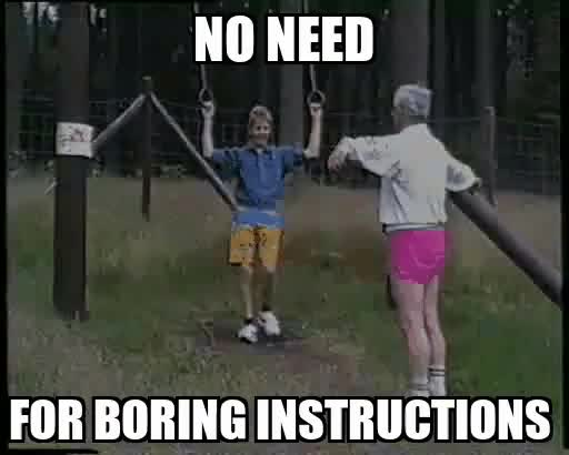 Watch No need for boring instructions GIF by runeee on Gfycat. Discover more childrenfallingover GIFs on Gfycat