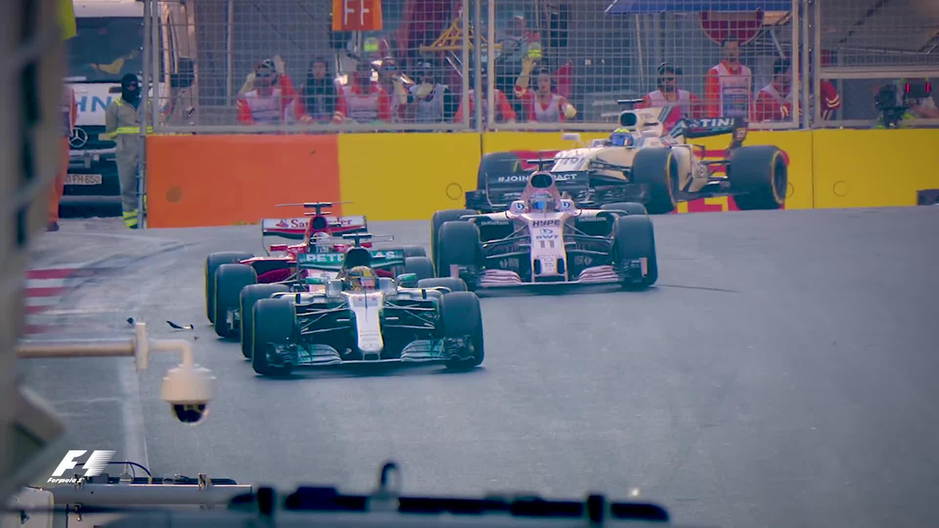 f1, formula 1, formula one, Hamilton And Vettel's Clash Examined | 2017 Azerbaijan Grand Prix GIFs