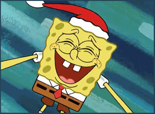awesome, bff, celebrate, christmas, excited, happy, hat, holiday, laugh, lol, patrick, round, santa, sing, smile, spongebob, xmas, That's awesome! GIFs
