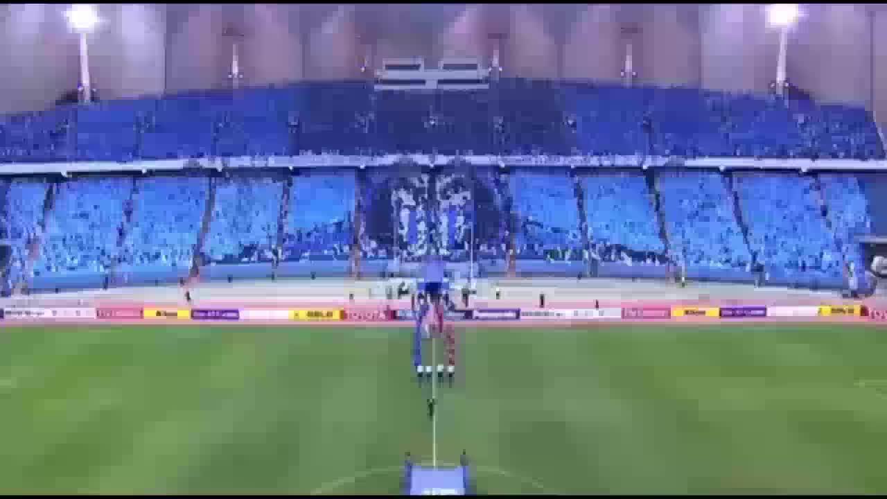 afc champions league (football league), al-hilal fc (football team), mortalkombat, Amazing Mortal Kombat Tifo By Al-Hilal  27-5-2015 GIFs