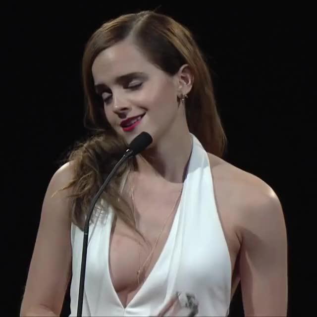 Emma Watson, cleavage, hot, sexy, tits, Emma Watson GIFs