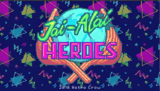 Watch Jai Alai Heroes (by Astro Crow) - Title Screen GIF on Gfycat. Discover more indiegames GIFs on Gfycat