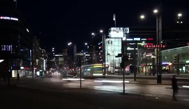 Watch and share Helsinki Streets In Night (TIME LAPSE) - Helsinki, Finland GIFs on Gfycat