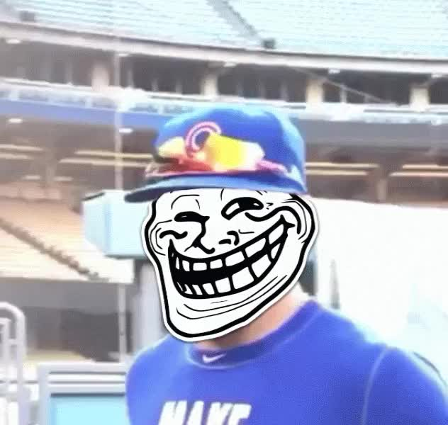 Watch and share Javier Baez Troll Face GIFs by MarcusD on Gfycat