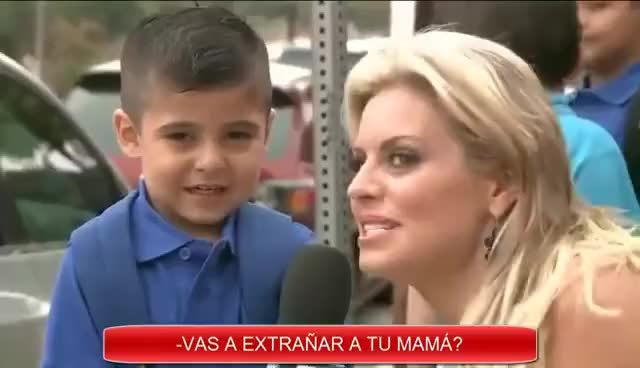 Reportera hace llorar a niño de kinder