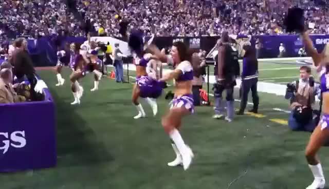 #NFL #Vikings, Vikings Cheerleaders GIFs