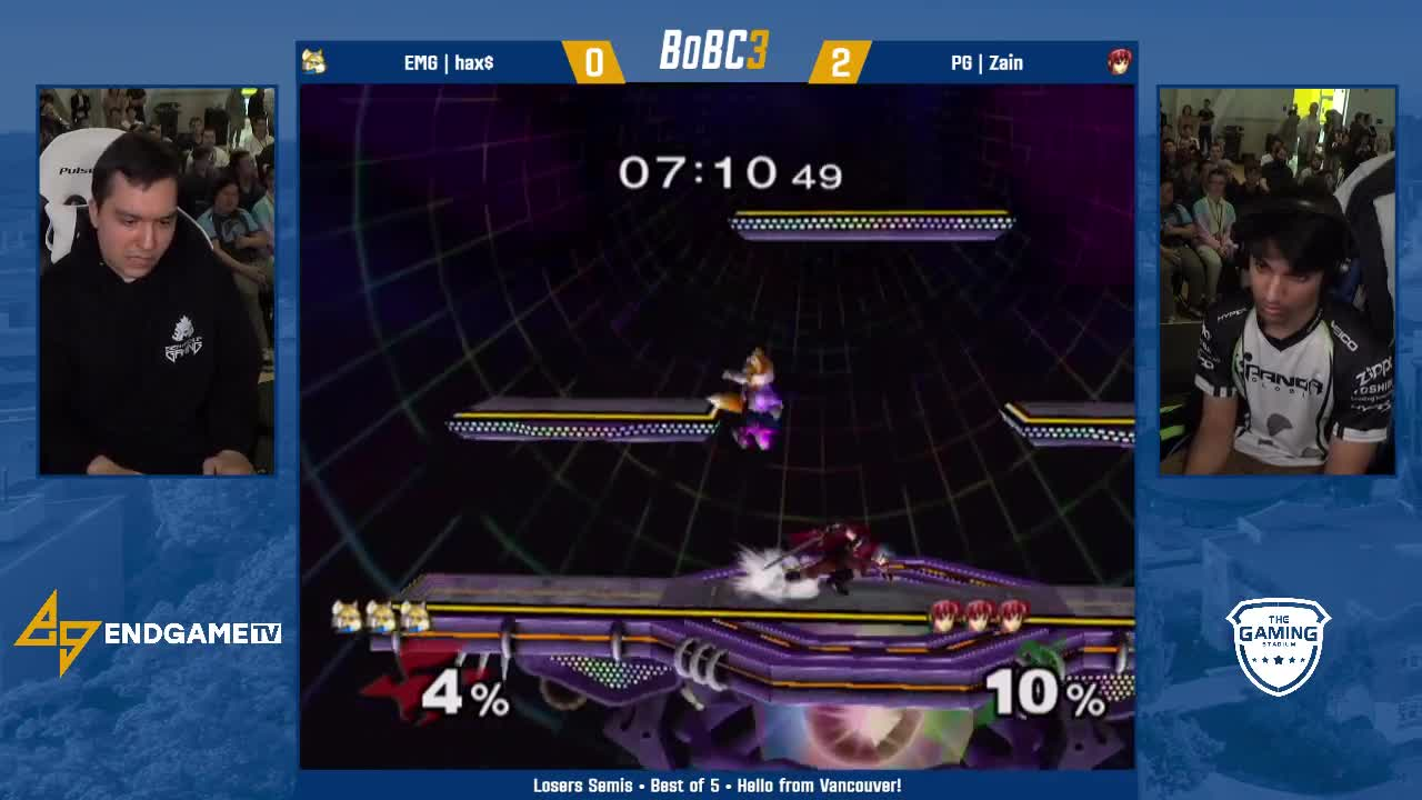 EGTV, EndGameTV, Gaming, Nintendo, Smash, Splatoon, EMG hax$ (Fox) vs PG Zain (Marth) | Losers Semifinals | Battle of BC 3 GIFs