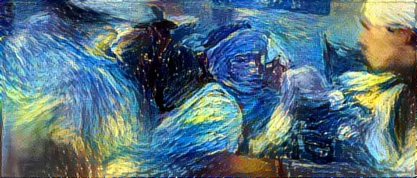 deepdream, DeepStyle Starry Night Indiana Jones GIFs