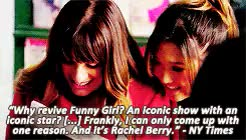 Watch and share Rachel Berry GIFs and Fanny Brice GIFs on Gfycat