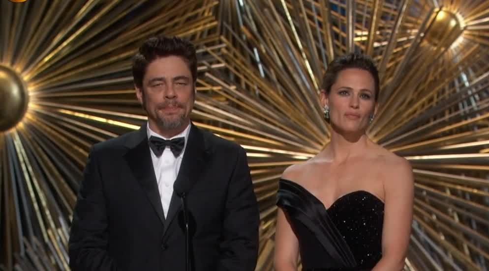 benicio del toro, jennifer garner, oscars, Benicio del Toro and Jennifer Garner GIFs