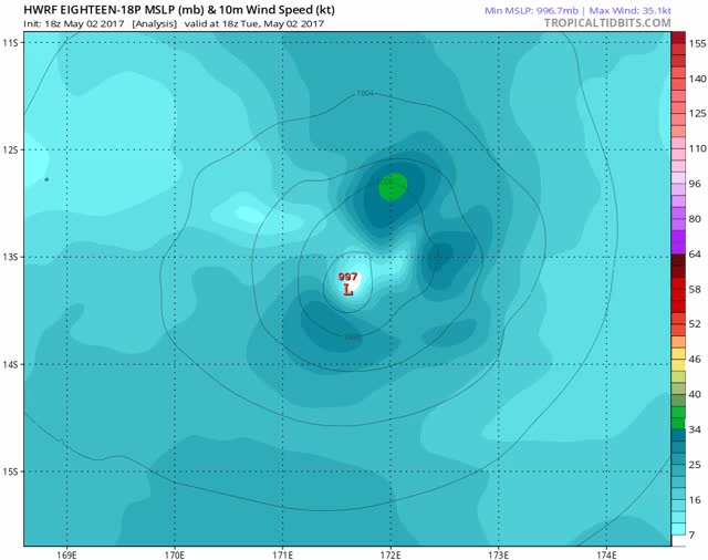 Watch and share HWRF - TC Donna - FM May 3, 2017 GIFs by The Watchers on Gfycat