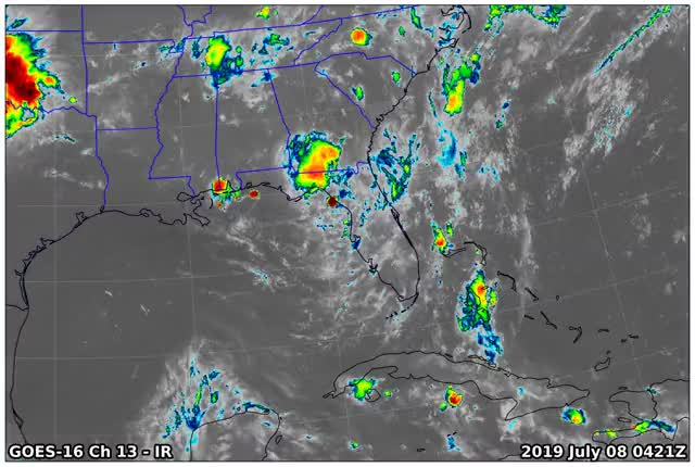 Watch and share GOES16 Ch13 2019 07 08 0421 GIFs by suckerfish on Gfycat