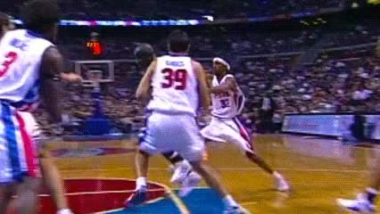 Watch and share Ben Wallace, Detroit Pistons GIFs by Off-Hand on Gfycat