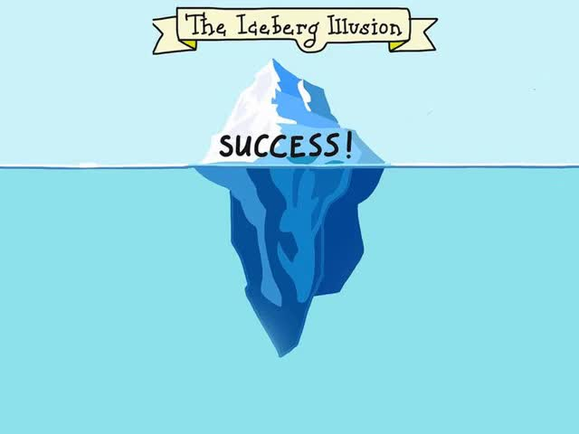 Watch and share The Iceberg Illusion: Dedication, Hard Work, Good Habits, Disappointment, Sacrifice, Failure, Persistence, Success. GIFs by Richard Rabbat on Gfycat
