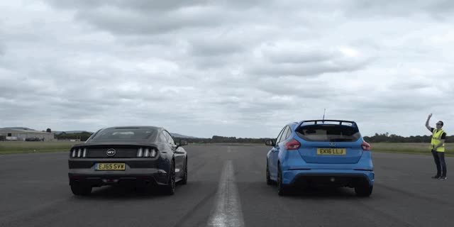 Watch and share Mustang GT Vs Focus RS: Which $40,000 Ford Is The Drag Race King? GIFs on Gfycat