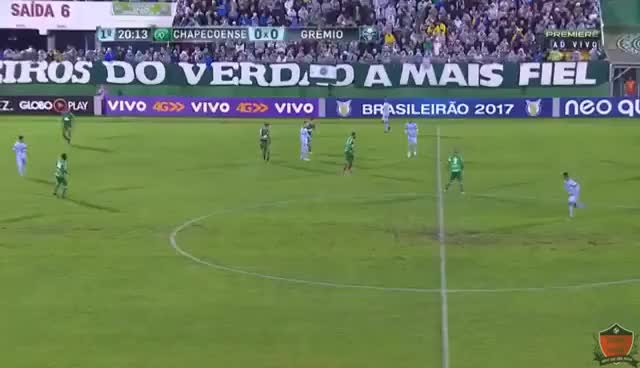 Watch and share Chapecoense 0x1 Grêmio - GOL DE MICHEL - Brasileirão 2017 GIFs on Gfycat