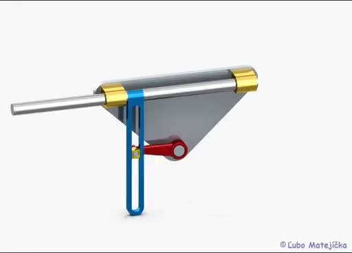 Watch and share Scotch Yoke Mechanism (Kulisový Posuvný Mechanizmus) 3D Creo Elements GIFs on Gfycat