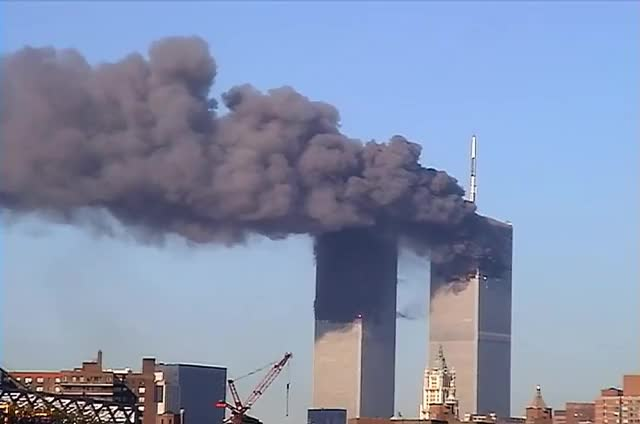 Watch and share NIST FOIA 09-42: R14-UC -- Main & Ballou 01-17 (Twin Towers Burning/Towers Collapse) GIFs on Gfycat