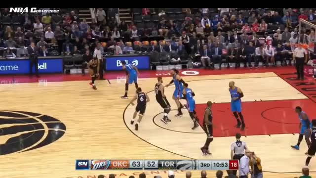 Watch and share Oklahoma City Thunder Vs Toronto Raptors - Full Game Highlights | March 16 2017 | 2016-17 NBA Season GIFs on Gfycat