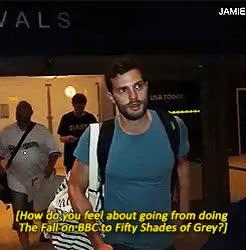 Watch and share He Looks So Good GIFs and Jamie Dornan GIFs on Gfycat