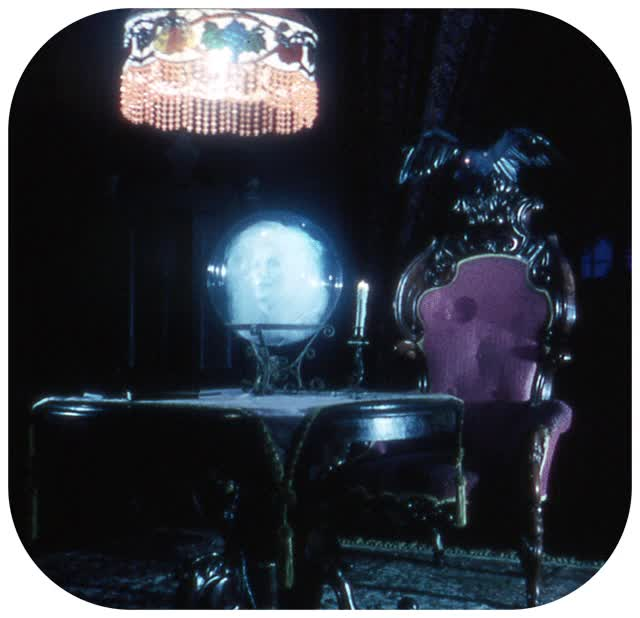 Watch and share Haunted Mansion Crystal Ball animated stickers on Gfycat