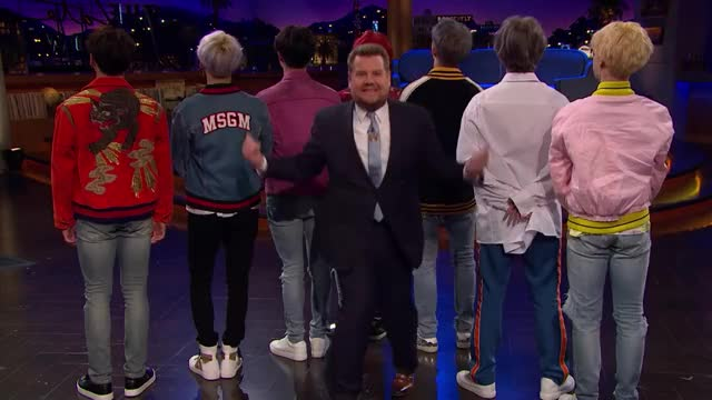 Watch and share James Corden GIFs and Bangtan GIFs on Gfycat