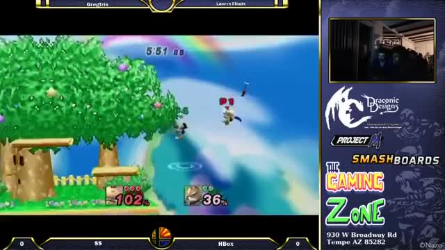 Crs  HungryBox Puff, Fox,Falco vs SS Olimar