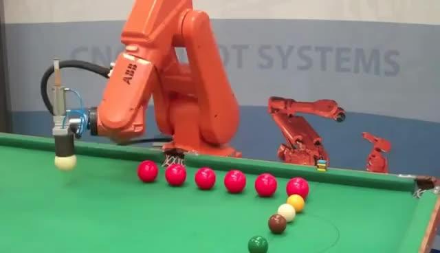 ABB Robot Playing Snooker GIFs