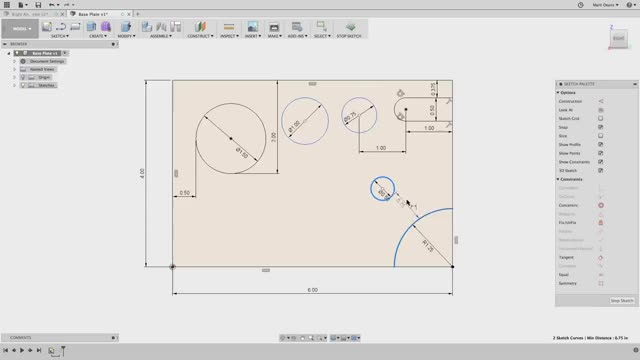 Watch QUICK TIP: Sketch Tangent Dimensions GIF on Gfycat. Discover more Autodesk, Cloud, Engineering, Rendering, cad, design, modeling, software GIFs on Gfycat