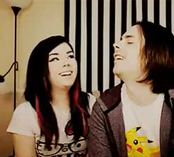 Watch i built a kingdom of your throes GIF on Gfycat. Discover more Arin Hanson, Egoraptor, Suzy Berhow, gif, mine, mort3mer, mortemer, photoset, the cutest couple ever oh my goodness GIFs on Gfycat