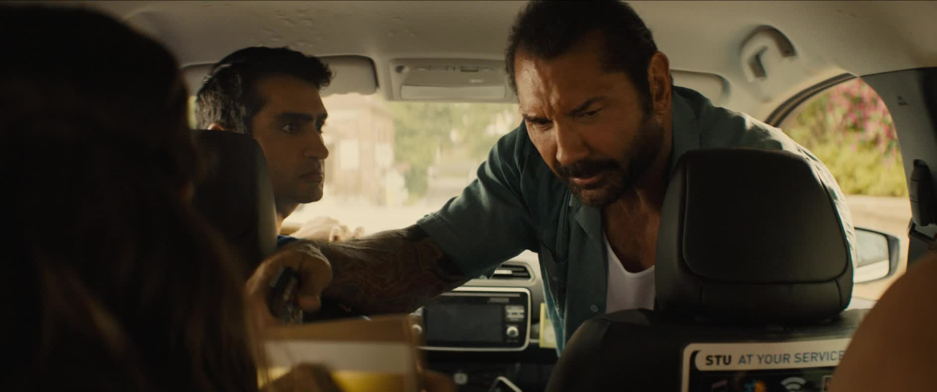 dave bautista, get out, gtfo, stuber, stuber movie, Dave Bautista Get Out GIFs
