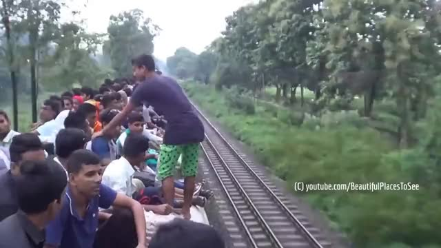 Watch and share Travelling On Open Roof Of An Overcrowded Train- A Dangerous Journey That You Never Seen Before GIFs on Gfycat