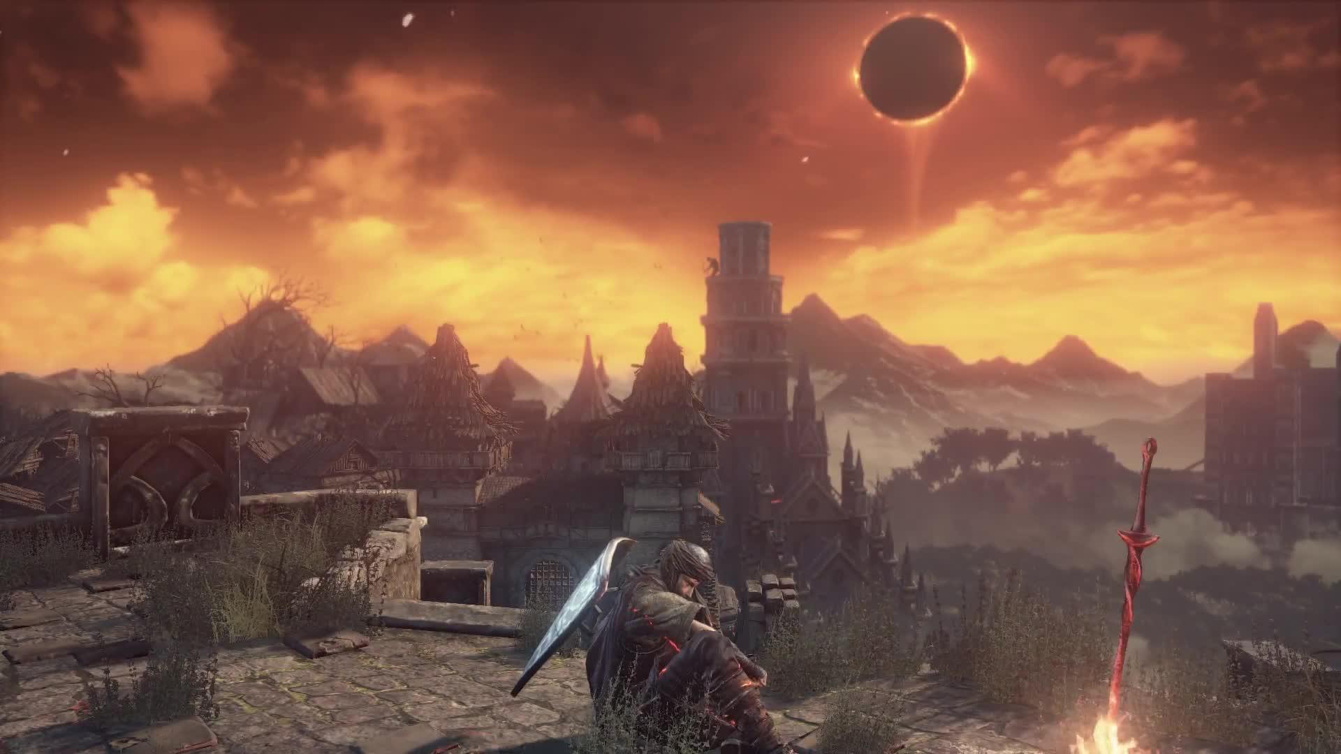 Dark Souls Iii Undead Settlement Under A Dark Sign Gif By Kaneda18