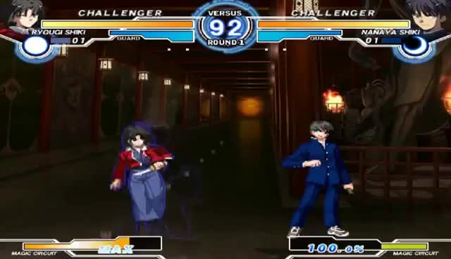 Watch and share Melty Blood Actress Again Current Code: Arc Drive & Last Arc Exhibition GIFs on Gfycat
