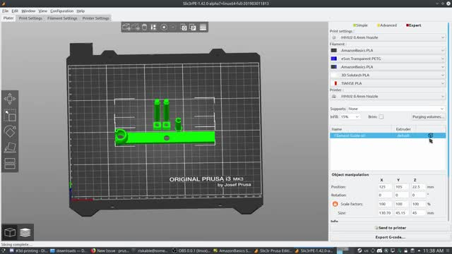 Watch Slic3rPE 1.4.20-Alpha7 has a bug with splitting parts where the extruder selection is ignored GIF by Riskable (@riskable) on Gfycat. Discover more 3D Printing, Bug, Slic3r GIFs on Gfycat