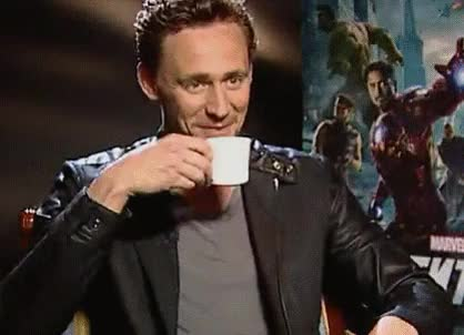 "Watch and share Interviewer: ""Have You Been Naughty Today, Tom?"" Tom  Hiddleston (offering A Mischievous Grin While Sipping His Tea): ""No."" GIFs on Gfycat"