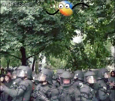 Watch Beach Ball vs Police GIF by Giniro (@maverickmaven) on Gfycat. Discover more reallifedoodles GIFs on Gfycat
