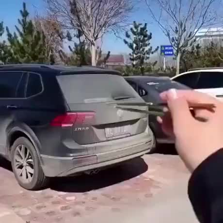Drawing a Good Boi behind a Car