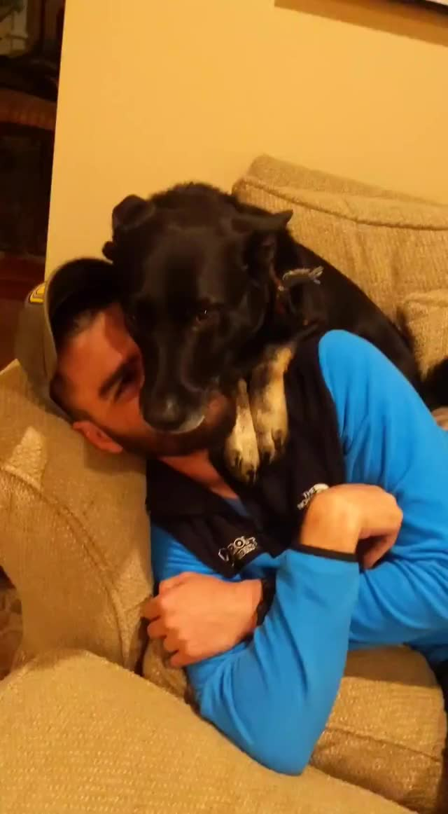 Watch and share Dog Cuddles GIFs by Lauren Blaha on Gfycat