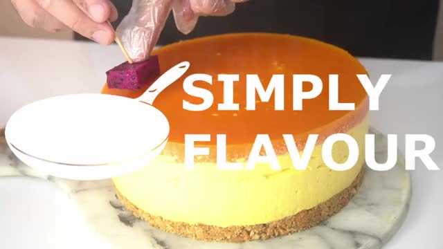 Watch and share No-bake Mango Cheesecake | Simply Flavour GIFs by simply flavour on Gfycat